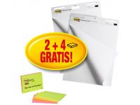 Post-it Super Sticky flip-overblok, 559P, 2 + 4 GRATIS Notulen, 63 x