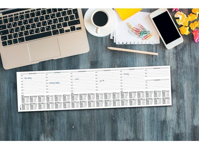 Bureau onderlegger sigel 500x130mm week planner mini