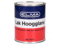 Elma hoogglanslak RAL 9010 750 ml