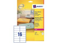 Etiket Avery L7562-25 99.1x33.9mm Transparant 400st