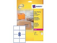 Etiket Avery L7565-25 99.1x67.7mm Transparant 200 Stuks