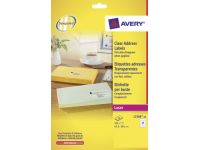 Etiket Avery L7560-25 63.5x38.1mm Transparant 525 Stuks
