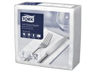 Servetten Tork 477579 Soft dinner 3-laags 39x39cm wit 100st.